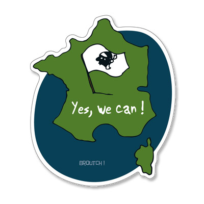 Broutch yes we can autocollant for Bett yes we can